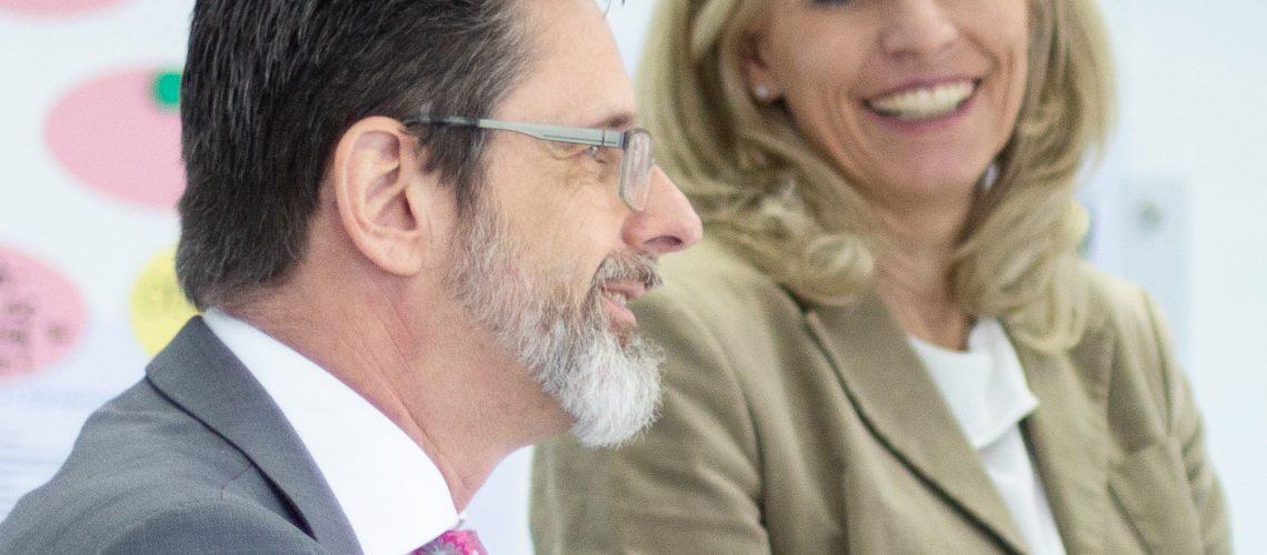 Attila Nagy und Sandra Winter im Gespräch