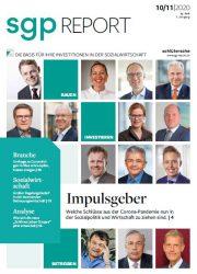 Cover sgp Report mit Foto von rosenbaum nagy Beratern Kip Sloane und Daniel Beckers